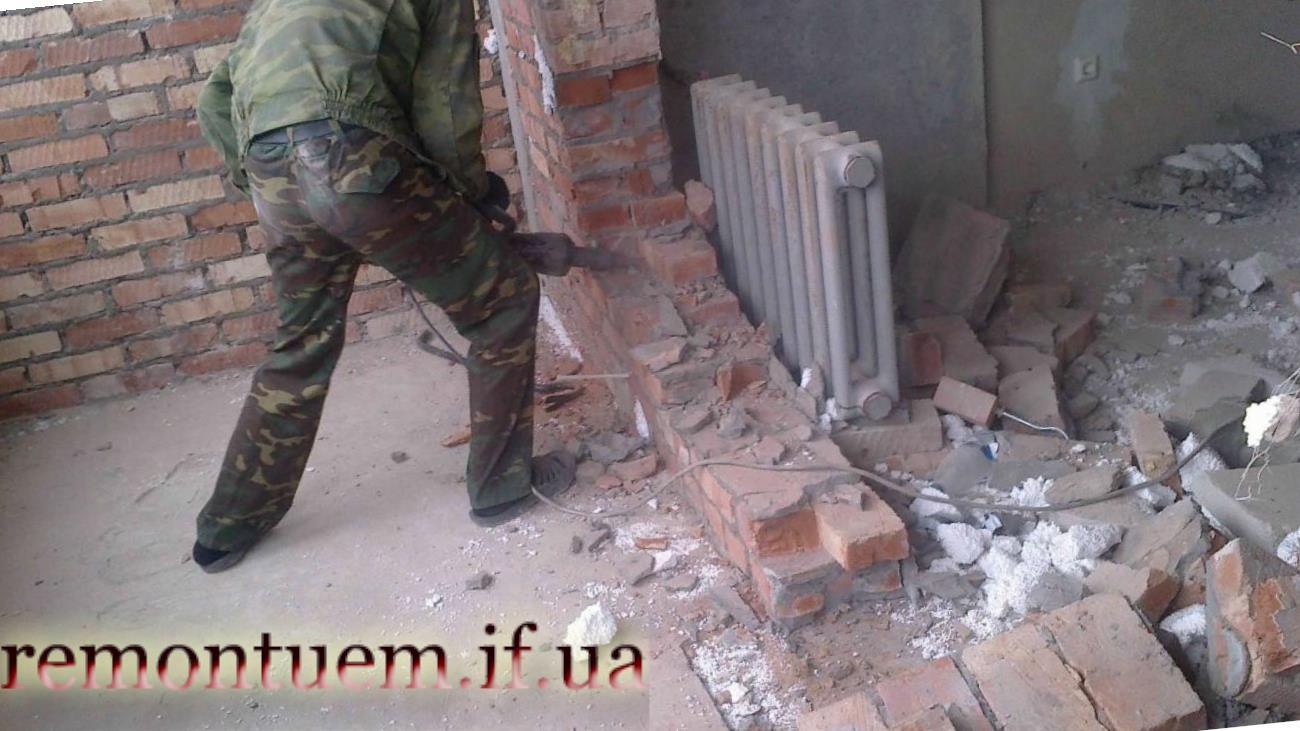 Демонтаж перегородок та стін