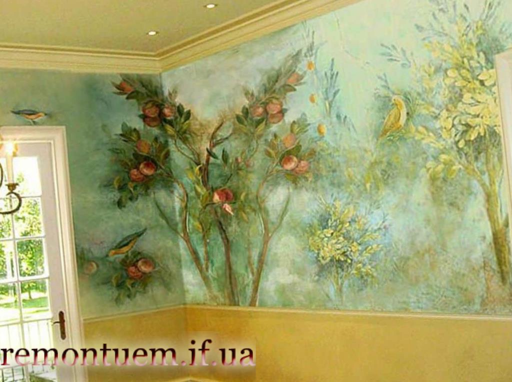 Доступні ціни на художній розпис стін в Франківську