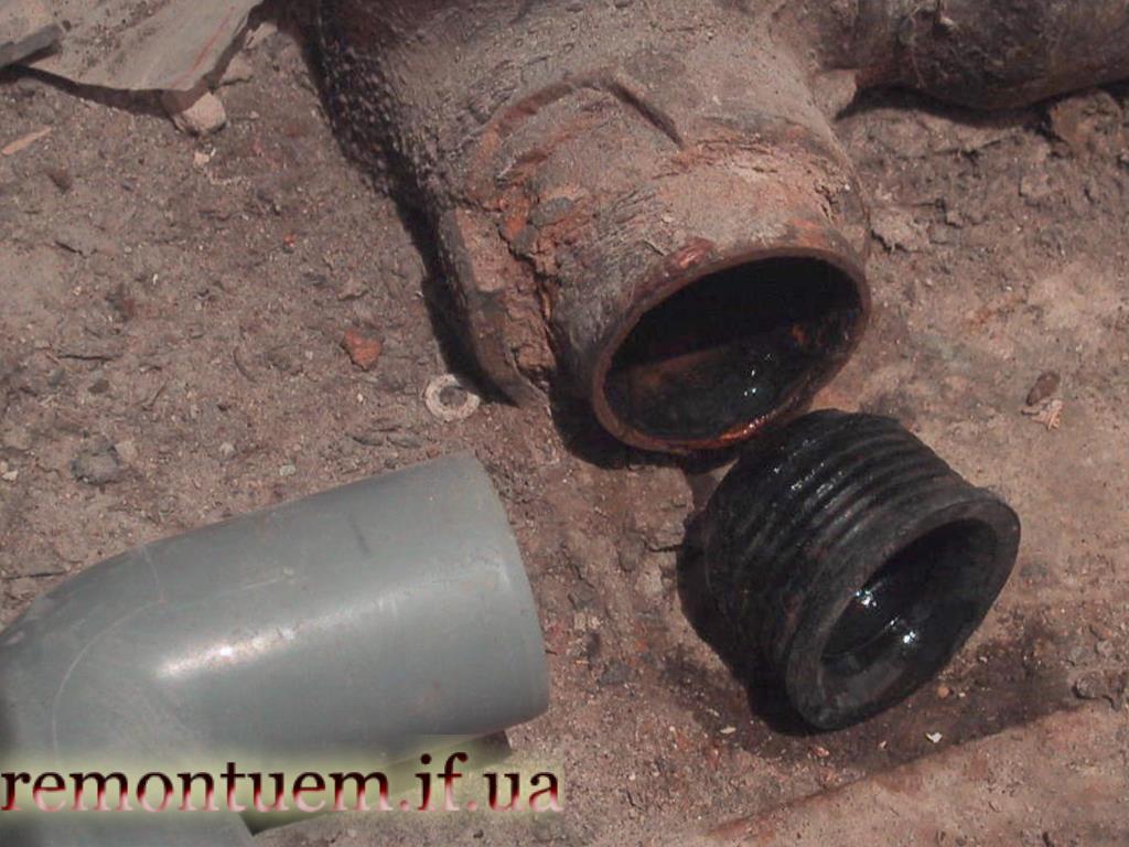 Заміна чавунних труб на пластикові Івано-Франківськ