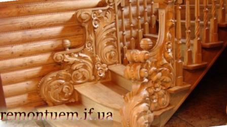 Монтаж дерев'яних сходів Івано-Франківськ