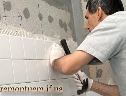 Монтаж плитки на стіну Івано-Франківськ