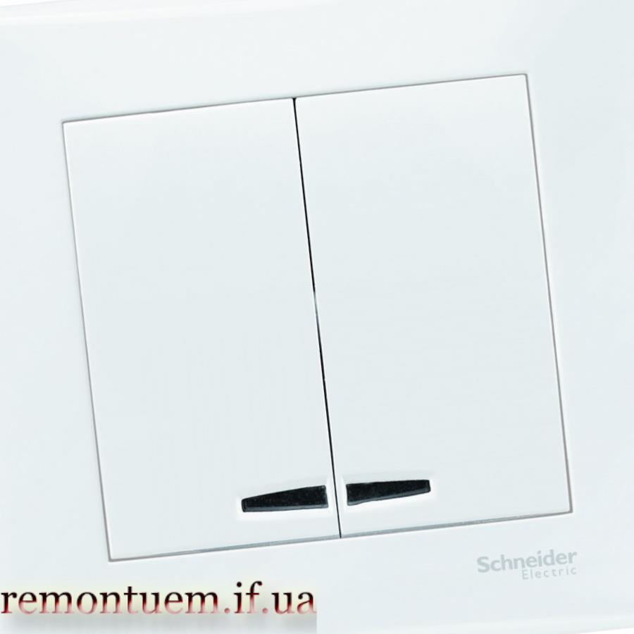 Монтаж подвійного вимикача з підсвідкою Івано-Франківськ