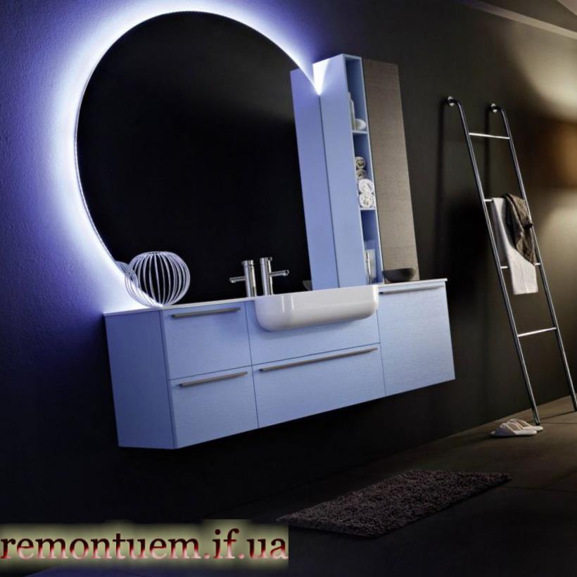 Монтаж тумби під накладний умивальник Івано-Франківськ